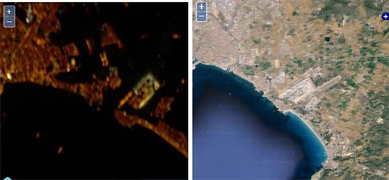 Aeropuerto de Palma de Mallorca fotografiado desde la Estación Espacial Internacional