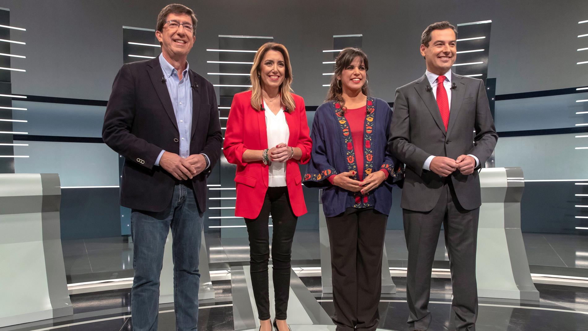 Díaz alerta de la posible coalición PP, Cs y Vox en un debate en el que no se aclaran los posibles pactos tras el 2-D