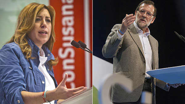 Díaz sigue haciendo campaña contra Rajoy, para quien votar a Podemos y C's es