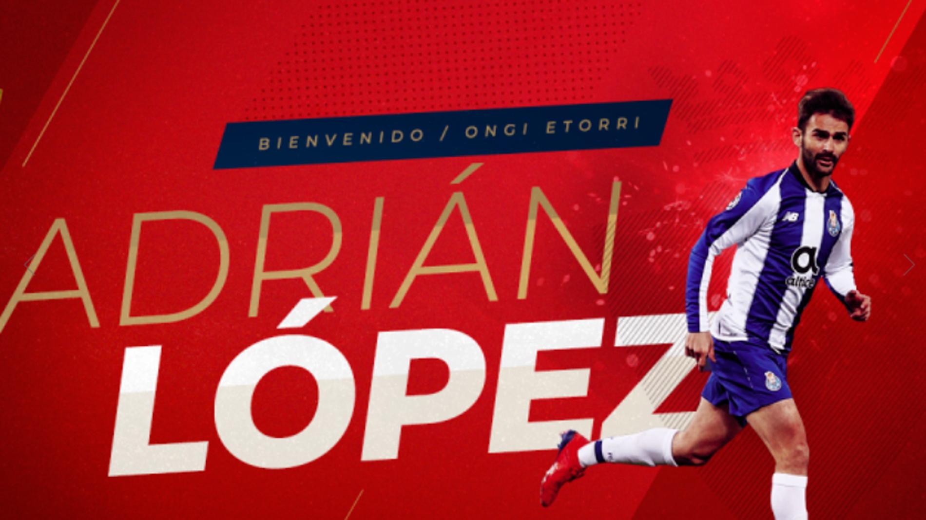 Imagen destacada del Osasuna presenta a Adrián López; cierra el mercado en China