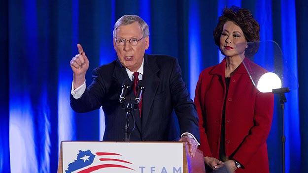 Mitch McConell, nuevo líder de la mayoría republicana en el Senado. Foto:  Aaron P. Bernstein/Getty Images/AFP