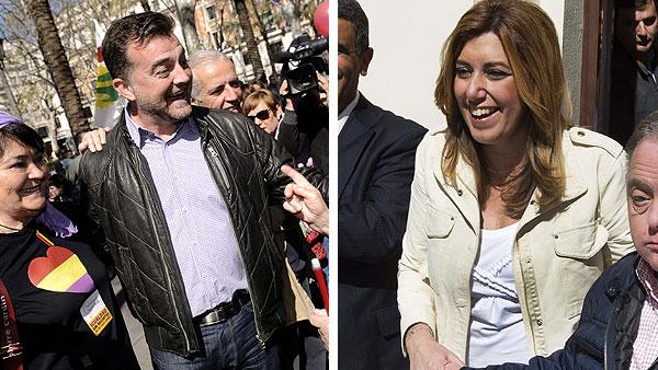 Díaz y Maíllo arremeten contra Moreno por decir que la Junta de Andalucía