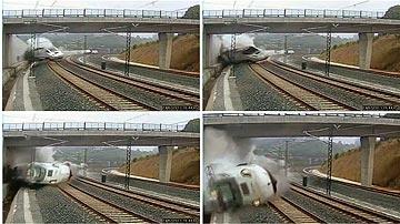 20:41:06: El tren descarrila
