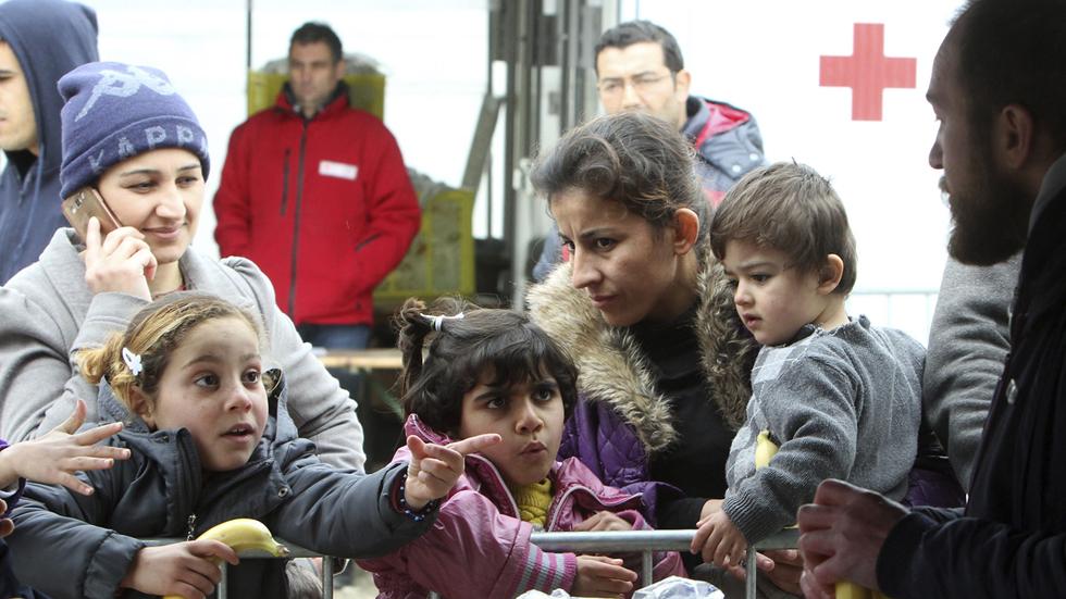 Campamento de refugiados en Presevo (Serbia)