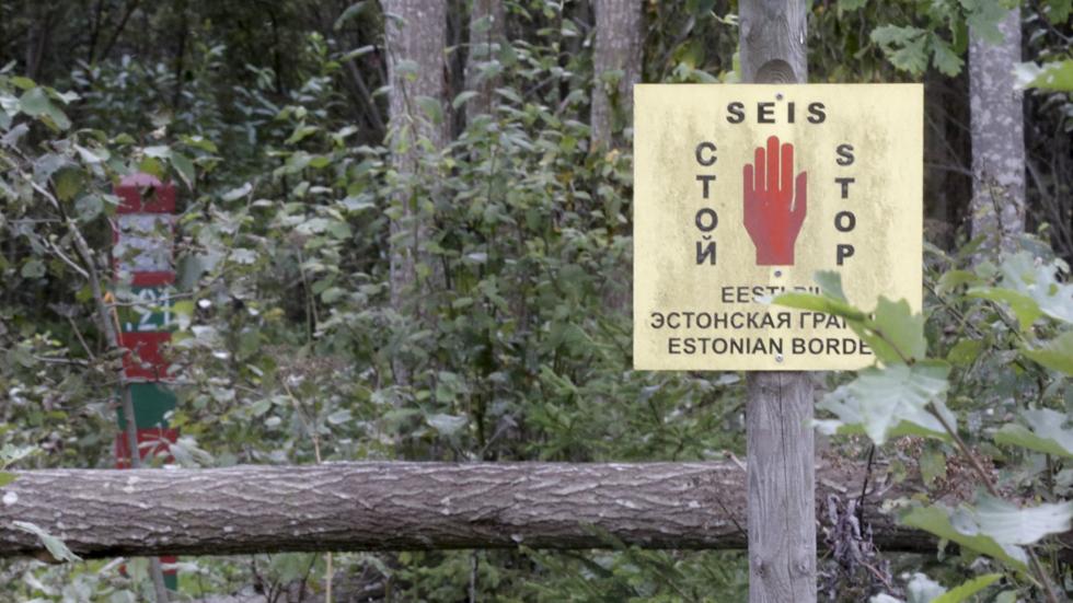 Valla levantada entre Estonia y Rusia