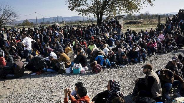 Campo de refugiados de Gevgelija en Macedonia