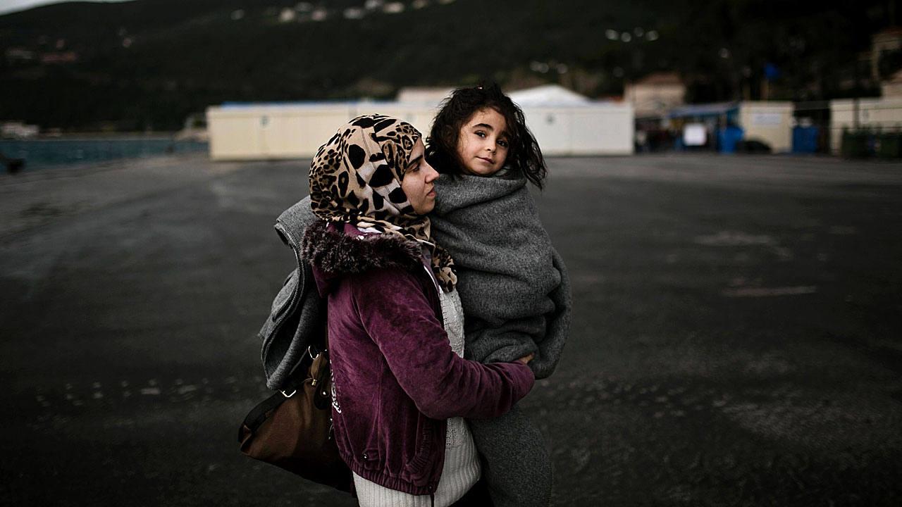 Campamento en la isla griega de Samos