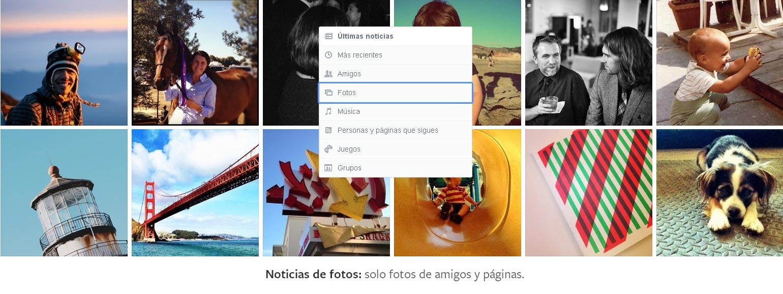 Selección de contenidos de Facebook