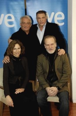 Parte de los protagonistas: Pepe Sancho, Juan Luis Galiardo, Mónica López y Lluis Homar
