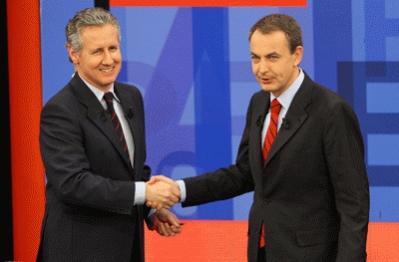 Lorenzo Milá y José Luis Rodríguez Zapatero