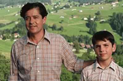 Martin (Carlos Iglesias)  y su hijo Pablo (Iván Martín)