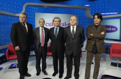 Juan Carlos Marset, Luis Fernández, César Antonio Molina, Javier Pons y Pere Roca