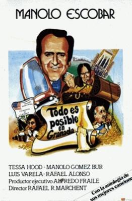 """""""Todo es posible en Granada"""" con Manolo Escobar, este sábado, en """"Cine de Barrio"""""""