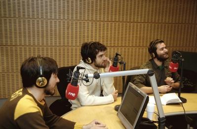 Pucho, Guillermo y Juanma (de izquierda a derecha), miembros de 'Vetusta Morla'
