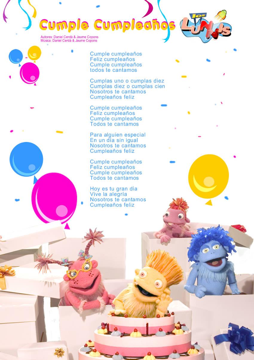 Prima cancin de cumpleaos cancin feliz cumplea 209 os feliz - Feliz cumpleanos letras ...